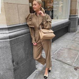 Zara frilled poplin blouse (4043)